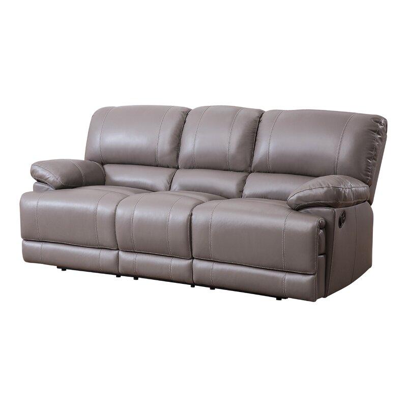 Loper Leather Reclining Sofa