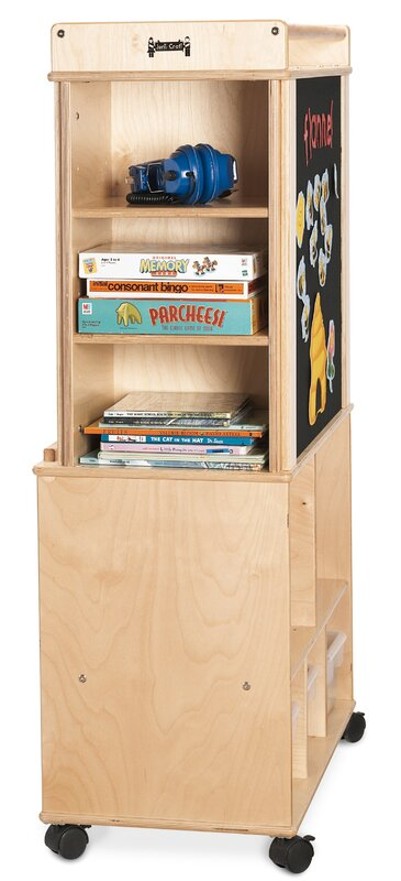 Script-n-Skills Double Sided 36 Compartment Cubby with Wheels