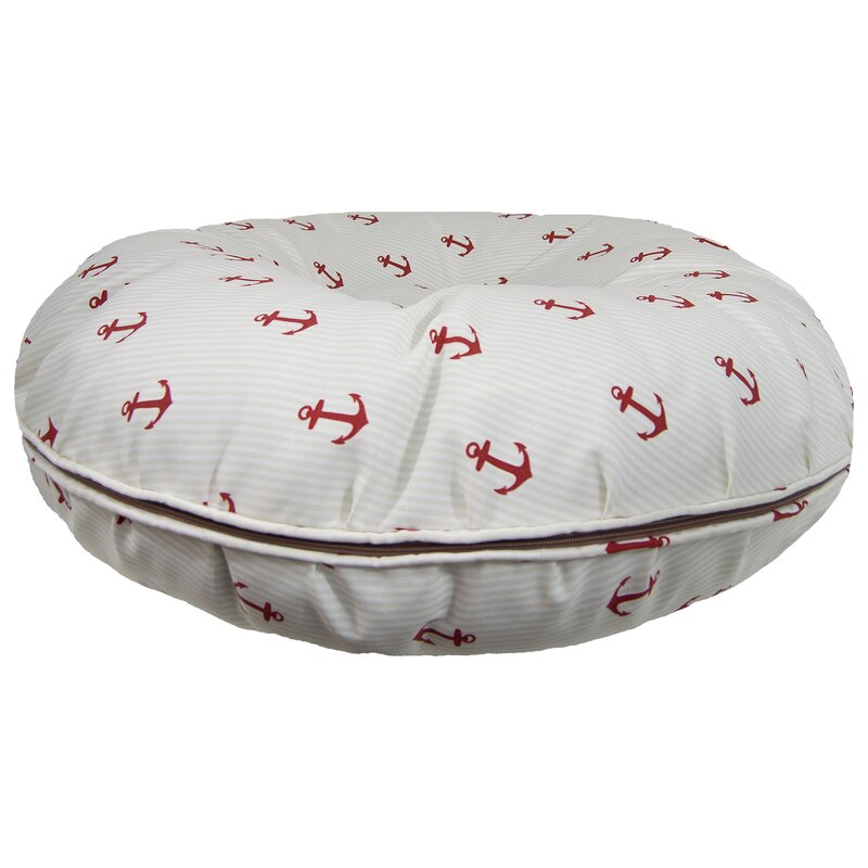 Bagel Red Anchor Pillow