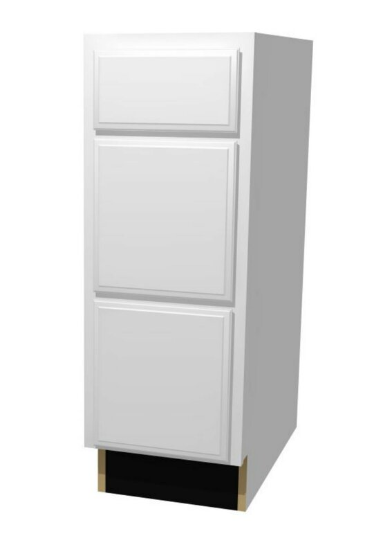 St. Clair High Three Drawer Base Cabinet