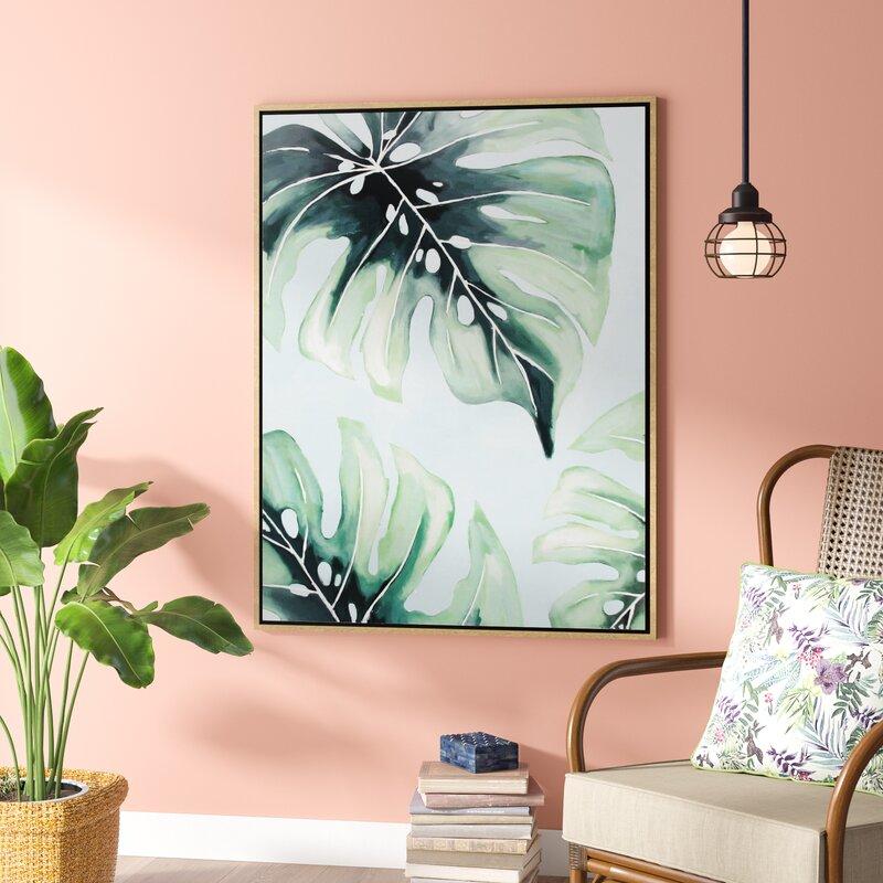 'Modern Palm Leaf' Framed Print