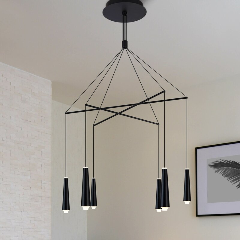 Quaoar 6-Light LED Kitchen Island Pendant