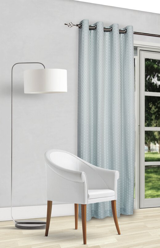 Heard Geometric Room Darkening Thermal Grommet Curtain Panels (Set of 2)