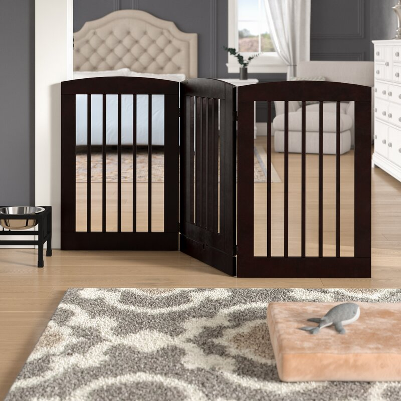 Daniella 3 Panel Expansion Dog Gate with Door