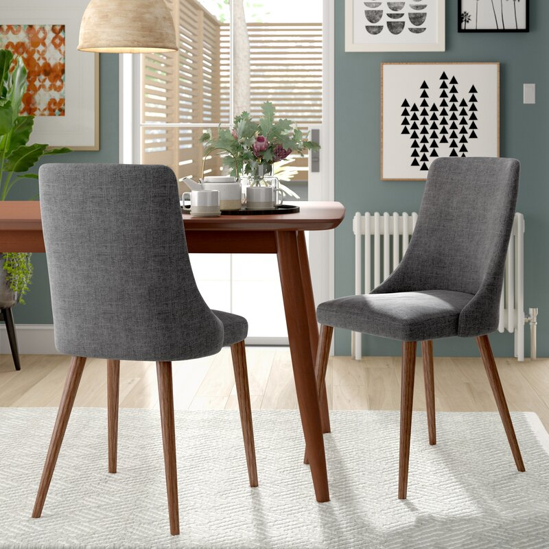 Doolin Mid-Century Upholstered Dining Chair (Set of 2)