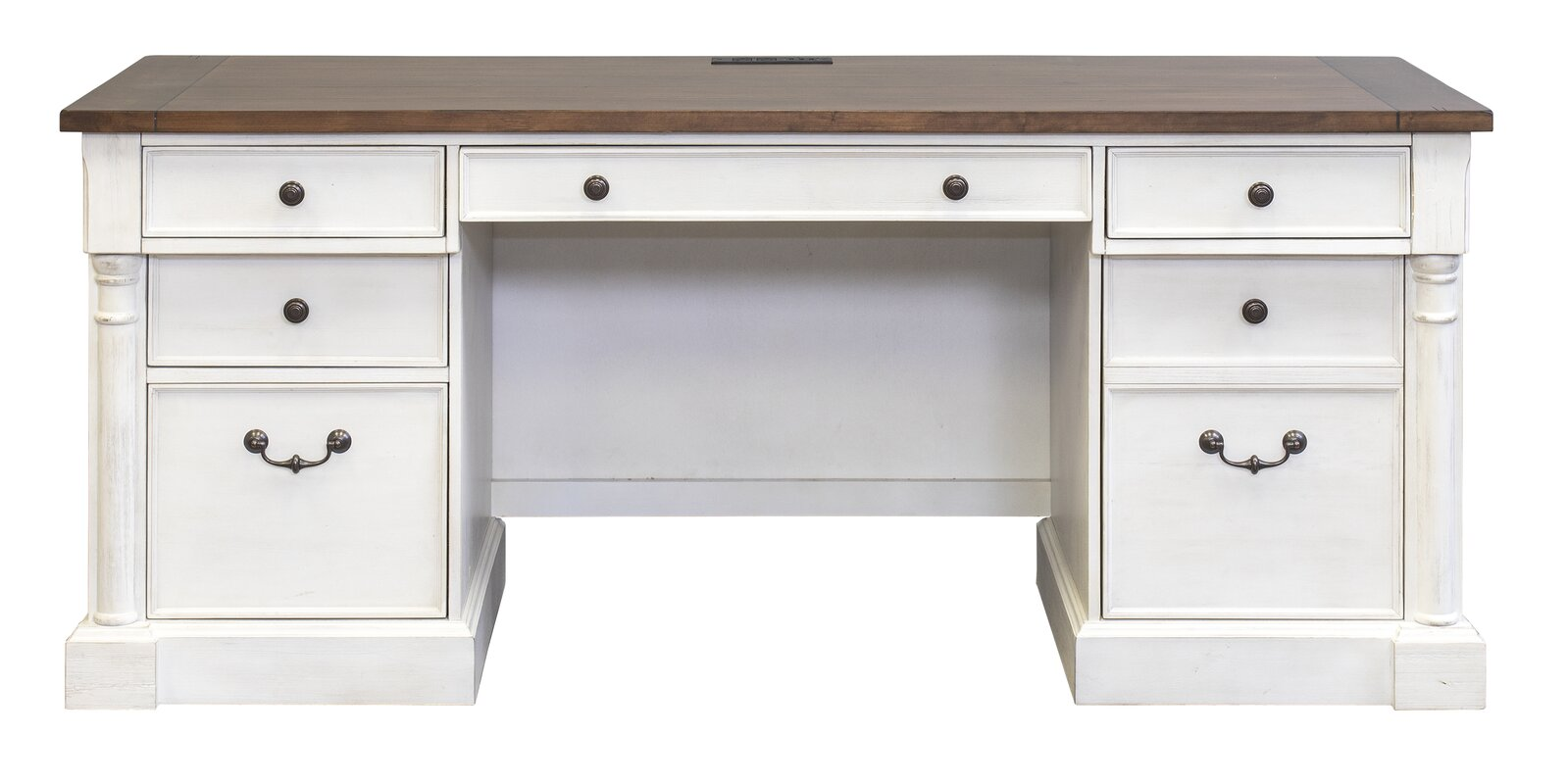 Chmura Executive Desk With Off-White Base