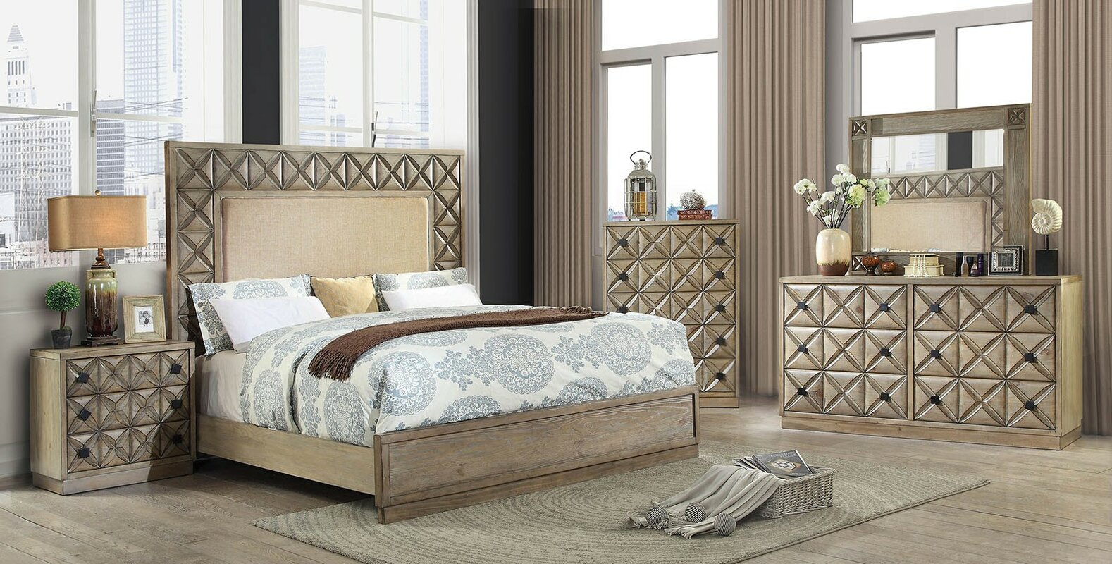 Menth Panel Configurable Bedroom Set