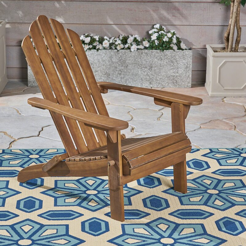 Larracey Solid Wood Folding Adirondack Chair