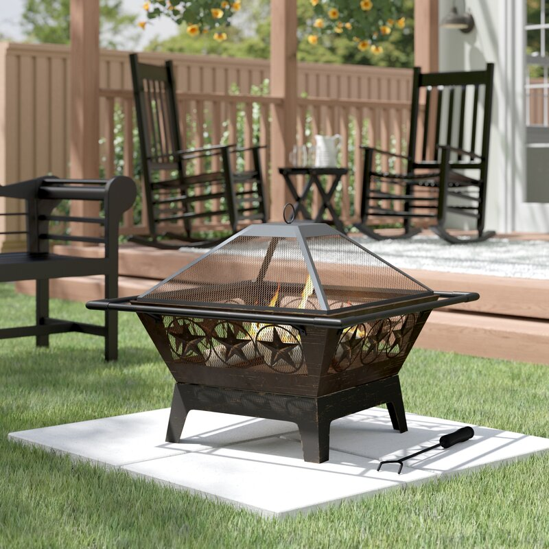 Roswita Steel Wood Burning Fire Pit