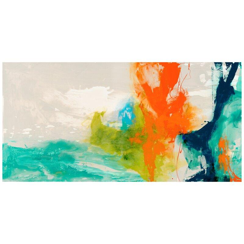'Tidal Abstract 1' Print on Glass