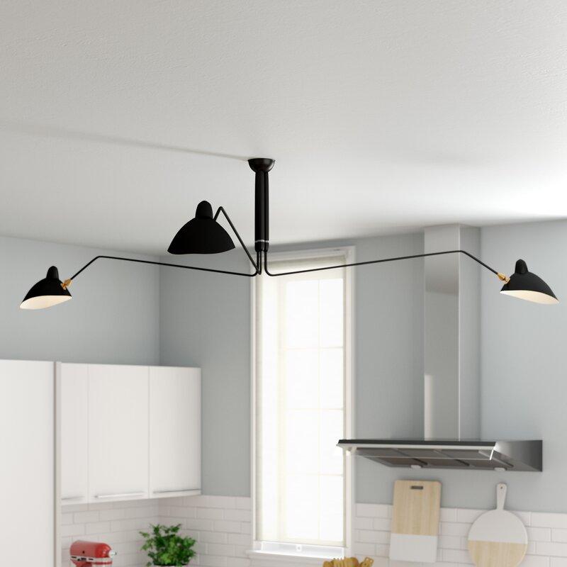 Darius 3-Light LED Shaded Chandelier