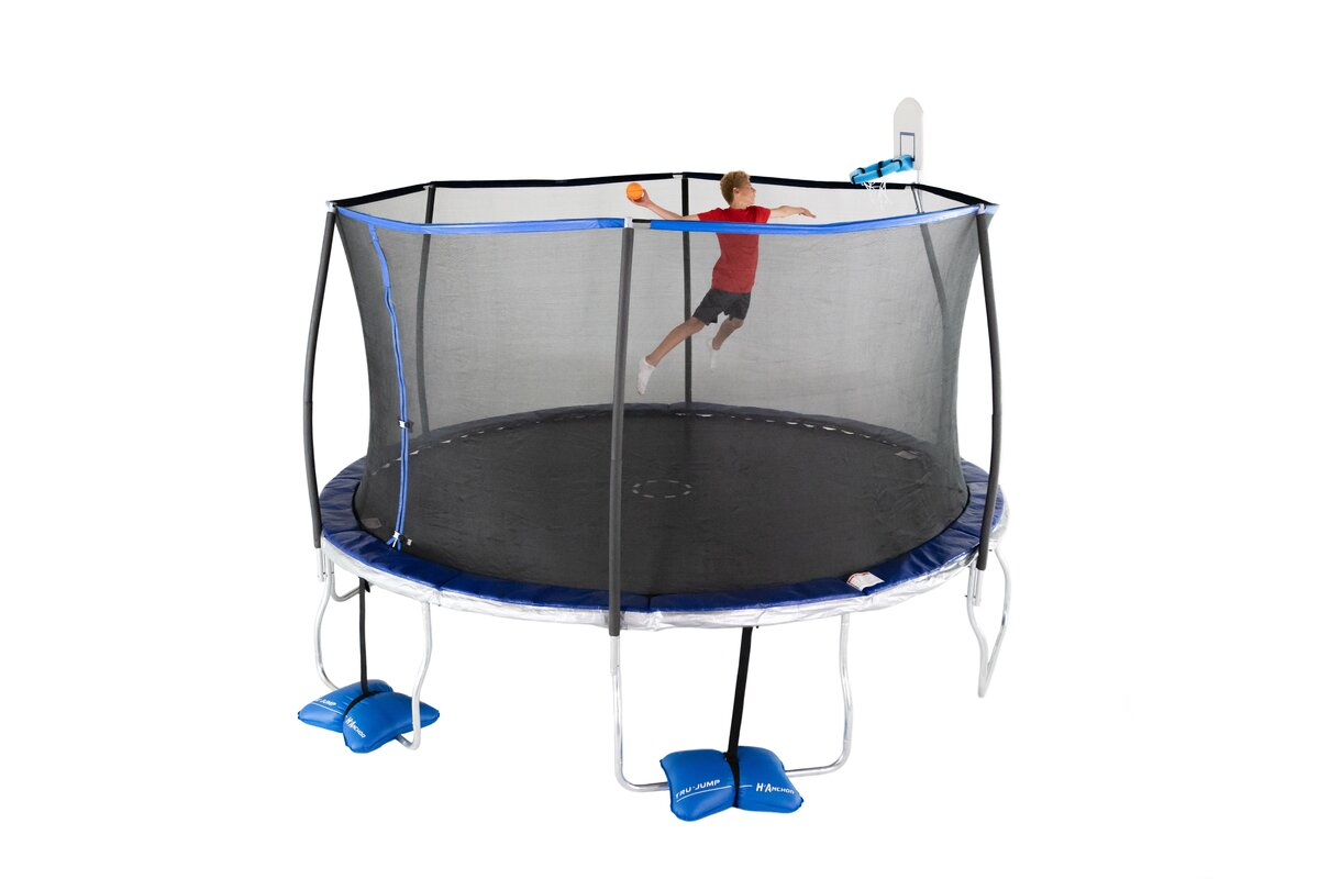 14' Round Trampoline with Safety Enclosure