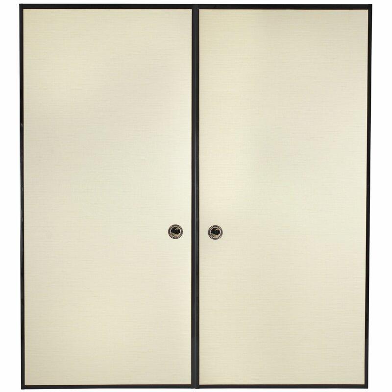 Paneled Wood Painted Sliding Closet Doors