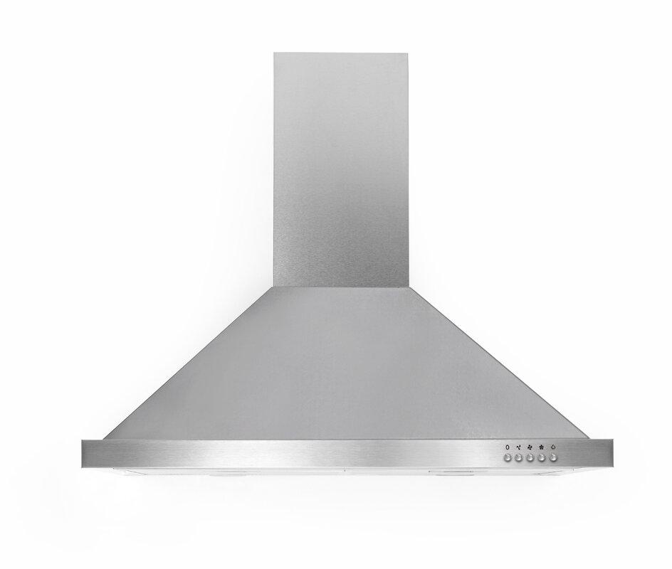 "30"" Ancona Pyramid Rim Series 450 CFM Convertible Wall Mount Range Hood"
