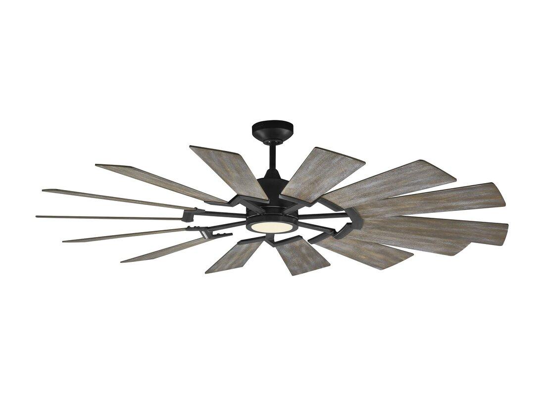 "62"" Kucharski 14 Blade LED Ceiling Fan"