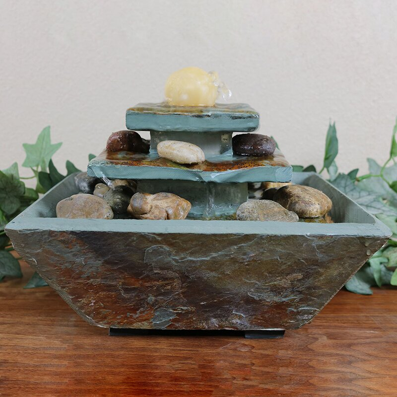 Natural Stone Fountain with Light