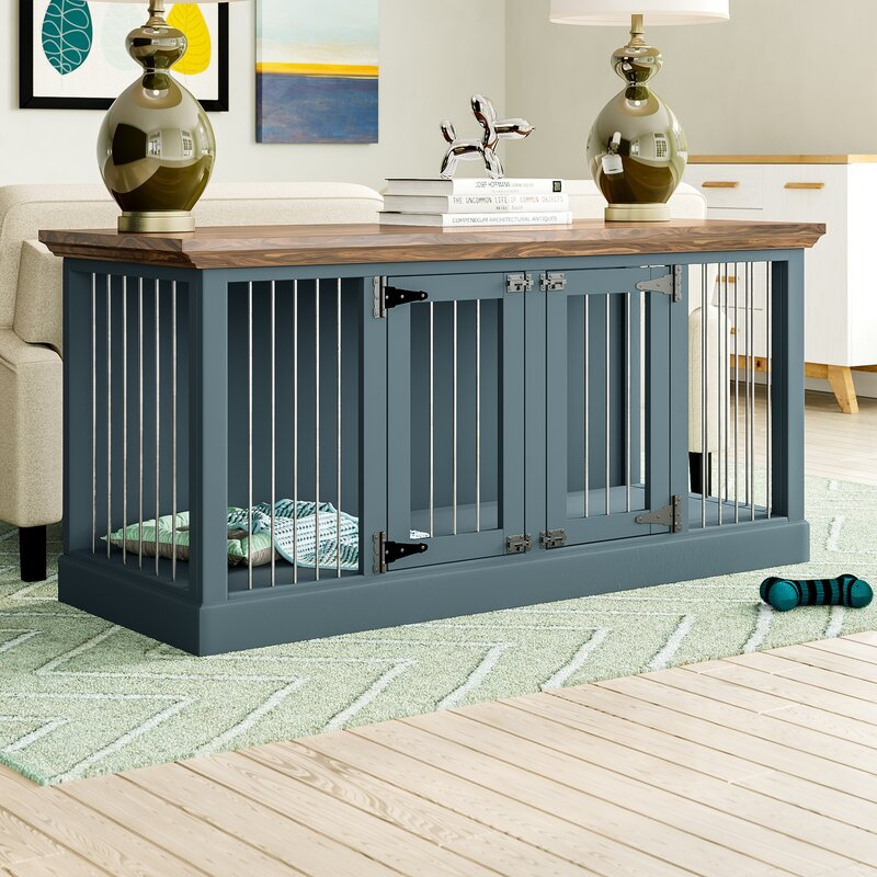 Damien Double Wide Small Credenza Pet Crate