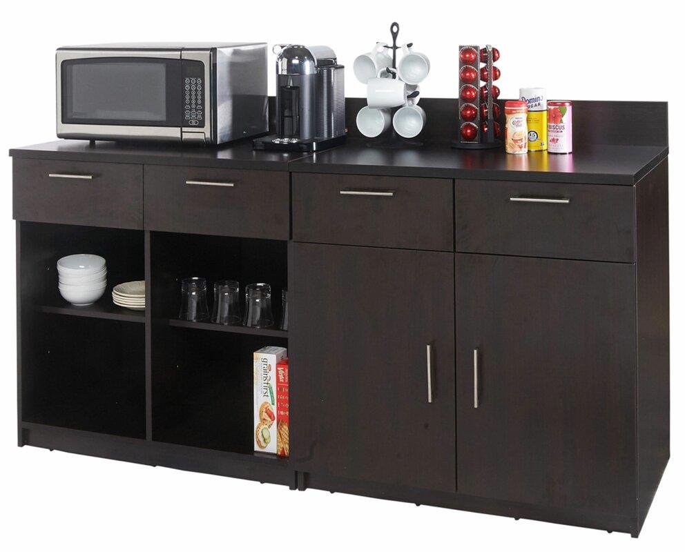 "Coffee Kitchen 36"" H x 72"" W Base Cabinet"