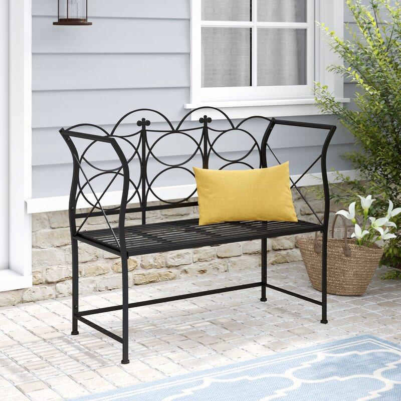 Amelia Metal Garden Bench