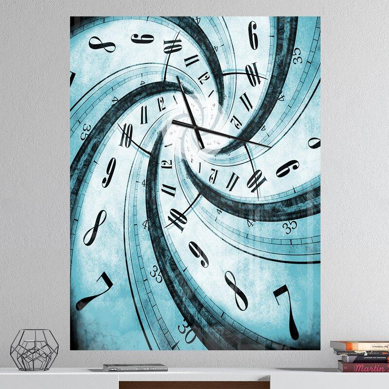 Oversized Designart Time Vortex Contemporary Wall Clock
