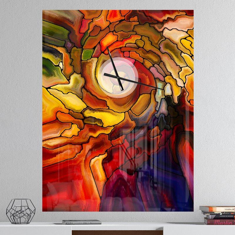 Oversized Designart Illusions of Glass Modern Wall Clock