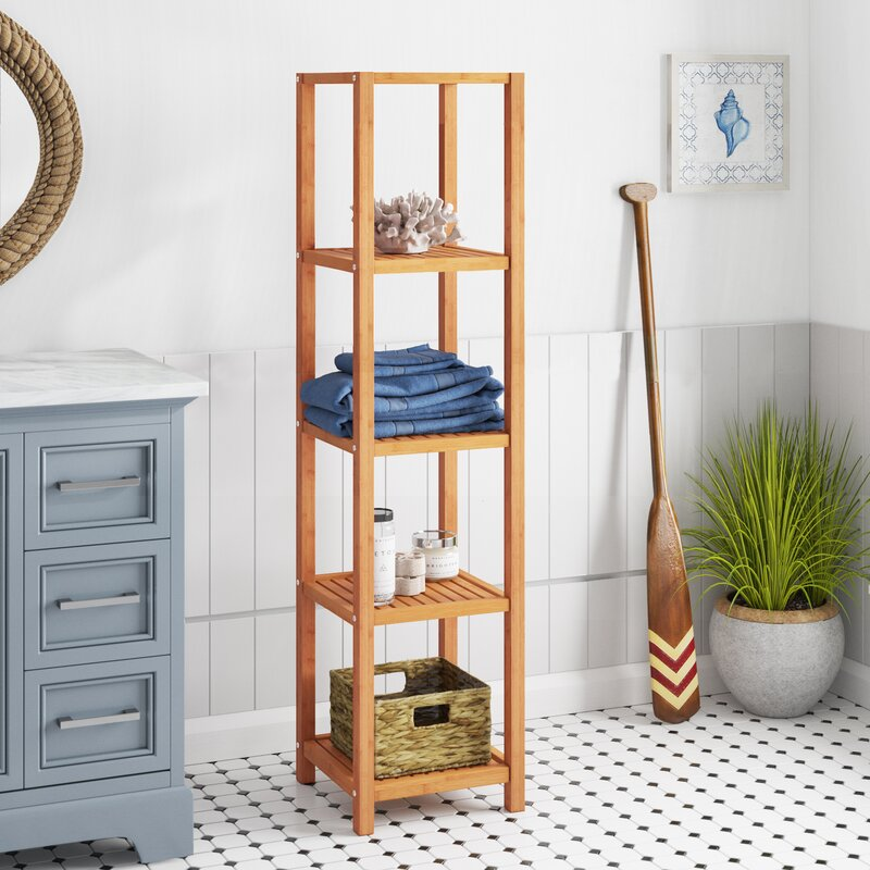 "Harley 14.1"" W x 57.8"" H Bathroom Shelf"