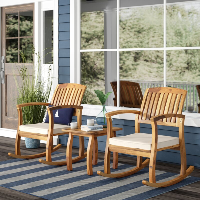 Coyne Acacia 3 Piece Seating Group with Cushions