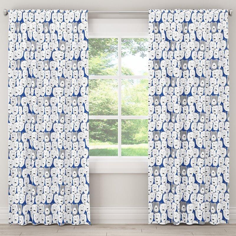 Chick Unlined Animal Room Darkening Rod Pocket Single Curtain Panel