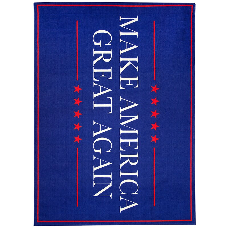 Make America Great Again Non-Slip Blue Indoor/Outdoor Area Rug
