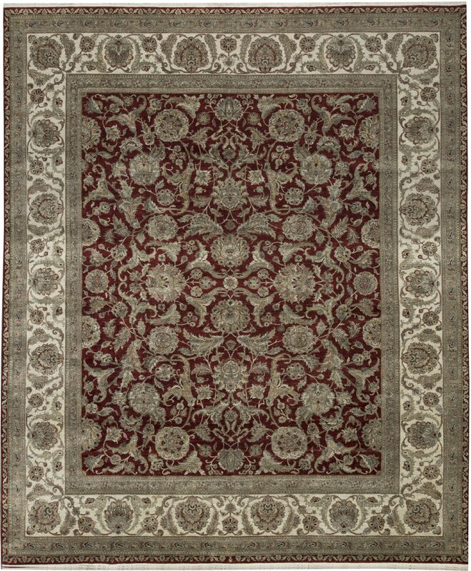 """One-of-a-Kind Mountain King Handwoven 4' x 6'2"""" Wool Area Rug"""