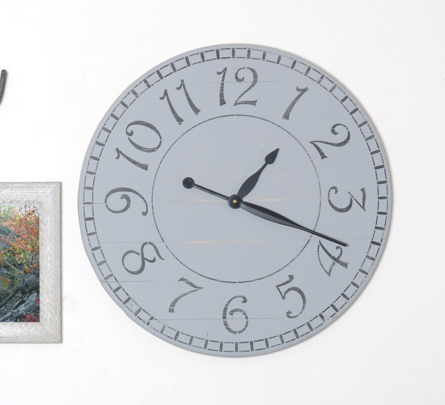 Beretta Oversized Weathered Farmhouse Wall Clock