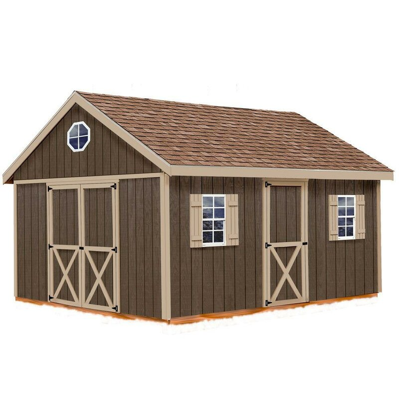 Easton 12 ft. W Solid Wood Storage Shed