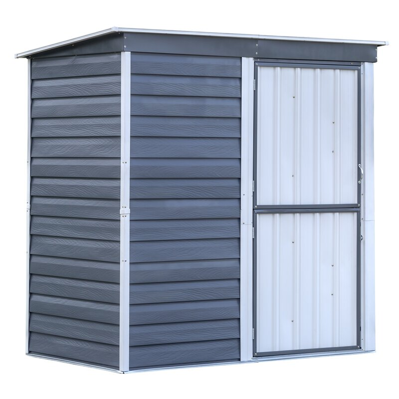 Shed-in-a-Box 7 ft. W x 4 ft. D Metal Horizontal Storage Shed