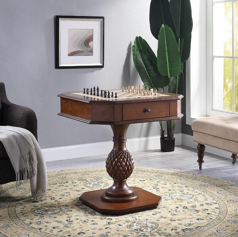 "28"" Bishop II Chess & Backgammon Table"