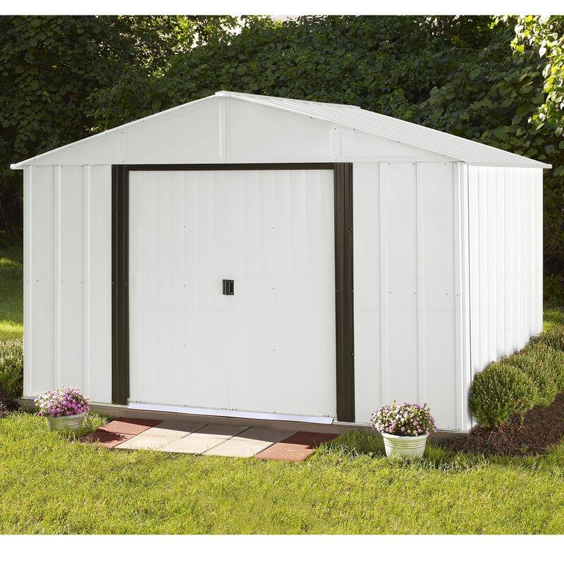 Arlington 10 ft. W x 8 ft. D Metal Storage Shed