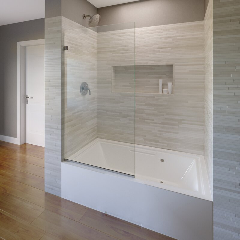 "Celesta 35"" x 60"" Frameless Tub Door"