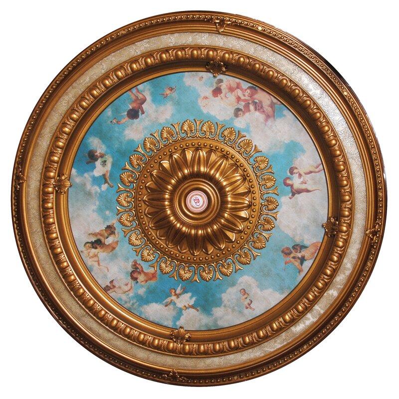 Cherub Sky Round Chandelier Ceiling Medallion