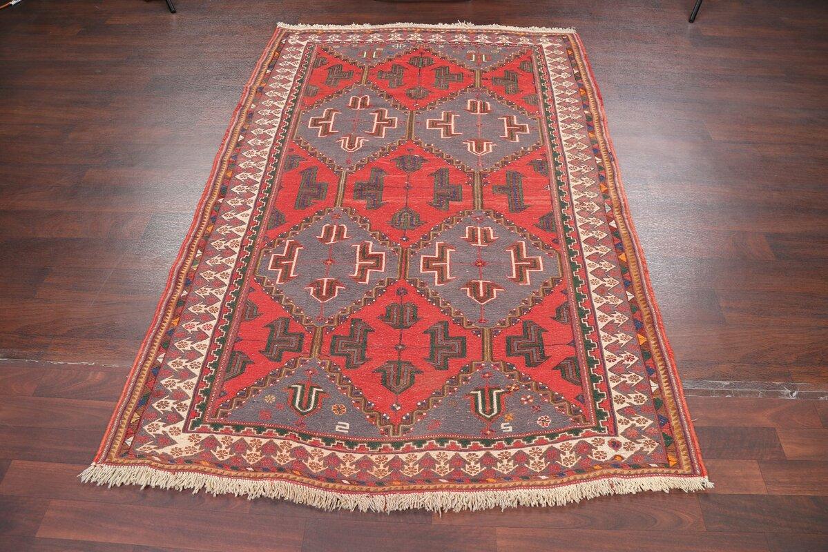 Ishani Geometric Tribal Sumak Sirjan Persian Style Area Rug 7' 3'' X 4' 7''