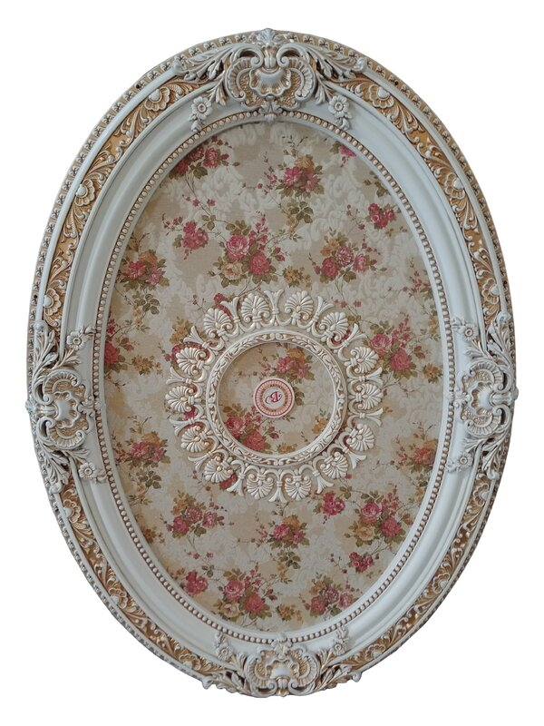 French Foliate Oval Chandelier Ceiling Medallion