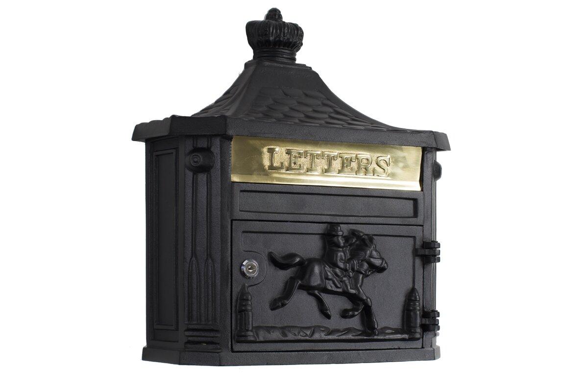 Victorian Locking Wall Mounted Mailbox