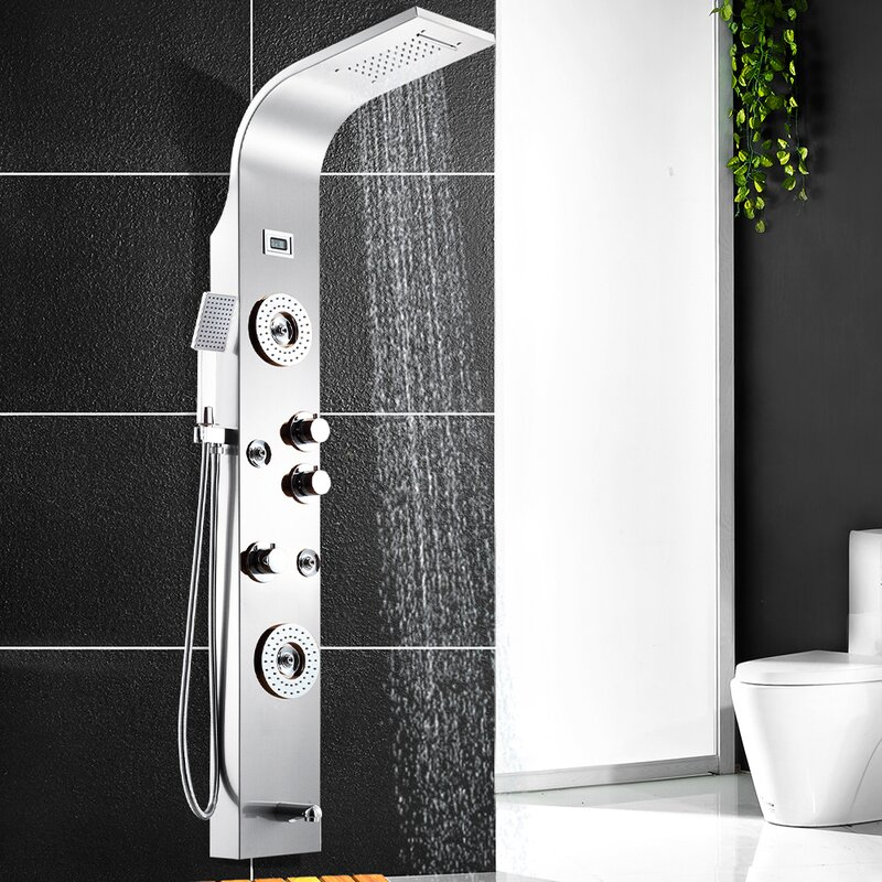 Thermostatic Dual Shower Head Shower Panel