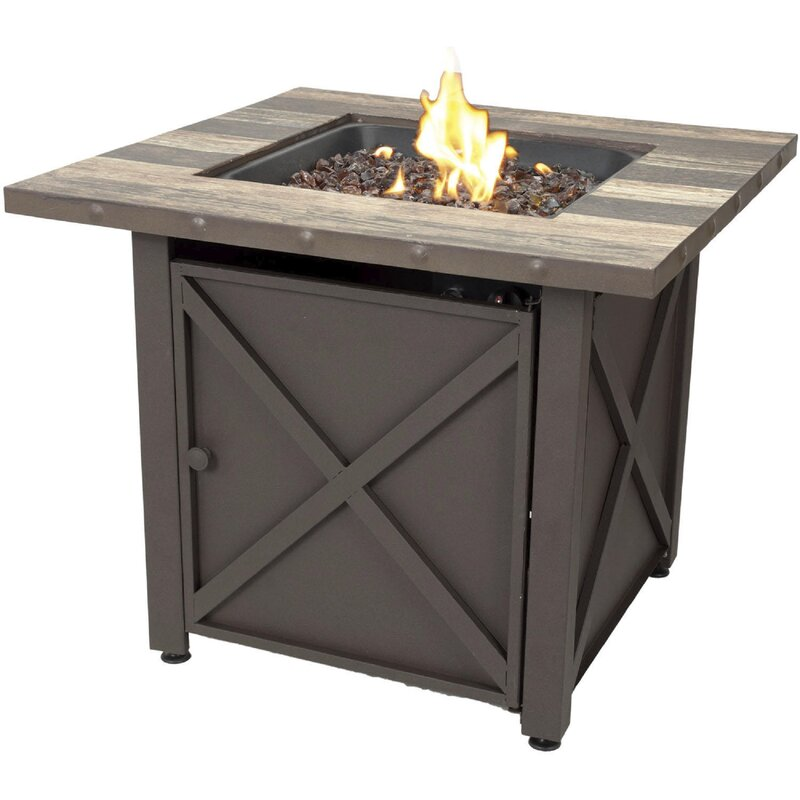 LP Stainless Steel Propane Fire Pit Table