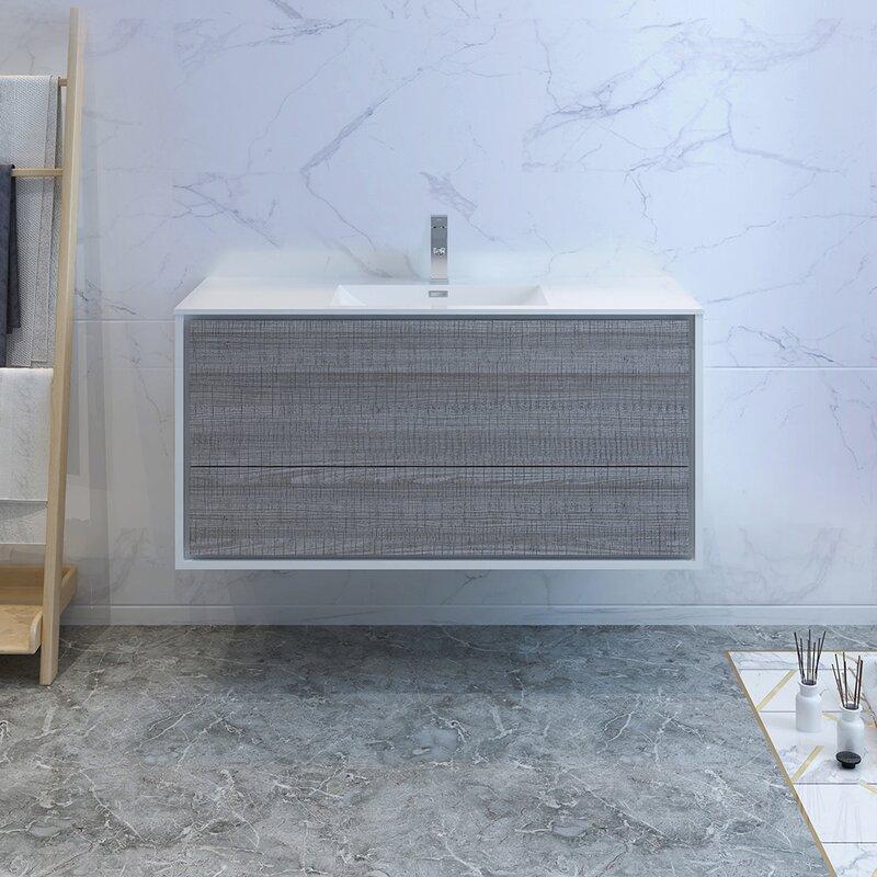 """Senza Tuscany 47"""" Wall-Mounted Single Bathroom Vanity Set"""