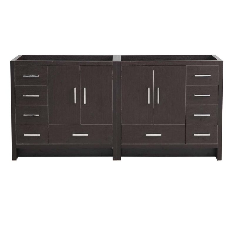 "Senza Tuscany 71"" Double Bathroom Vanity Base Only"
