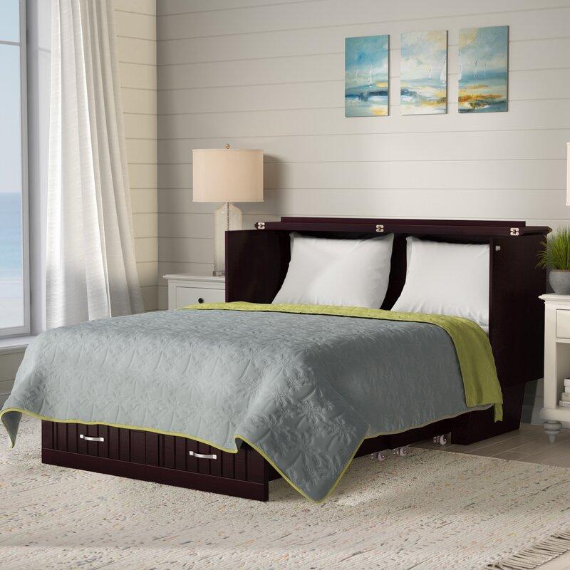 Graham Queen Storage Murphy Bed with Mattress