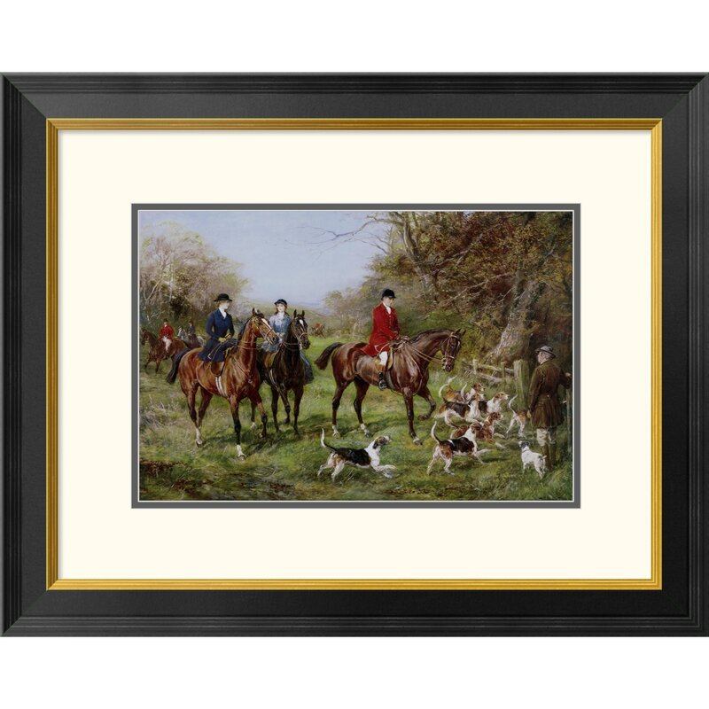 Going To Cover by Heywood Hardy Framed Drawing Print