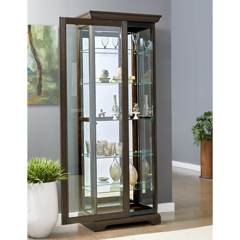 Moore China Lighted Curio Cabinet
