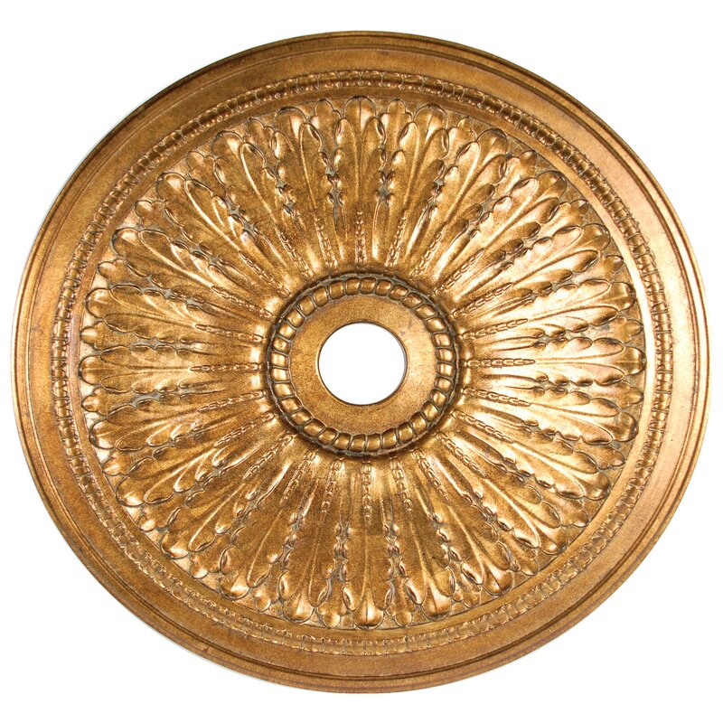 Leaf Chandelier Ceiling Medallion
