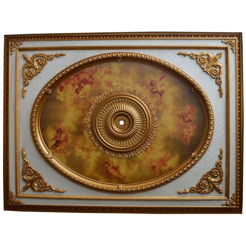 Cherub Design Chandelier Ceiling Medallion
