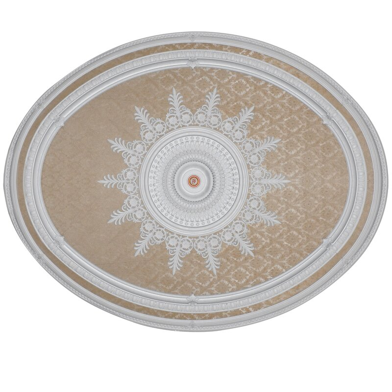 Brocade Round Chandelier Ceiling Medallion